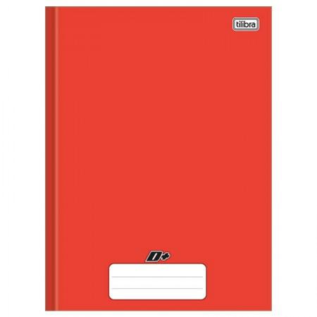 Caderno brochurão capa dura universitário 1x1 - 96 folhas - D mais - Vermelho - Tilibra