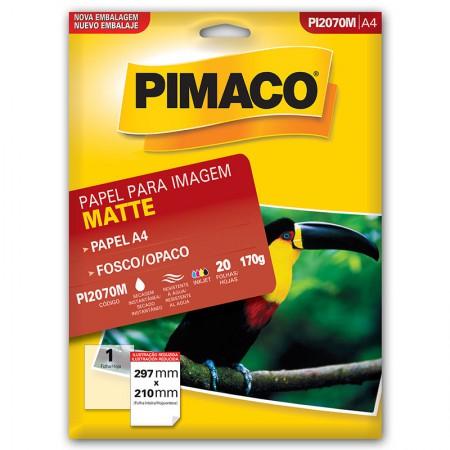 Papel fosco dupla face A4 - PI2070M - com 20 folhas - Pimaco