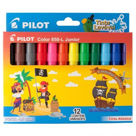 Caneta hidrográfica Color 850-L JR - com 12 cores - Pilot