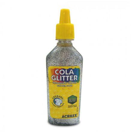 Cola glitter 23g prata 202 - Acrilex