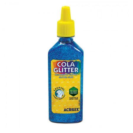 Cola glitter 23g azul 204 -  Acrilex
