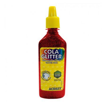 Cola glitter 23g vermelho 205 - Acrilex
