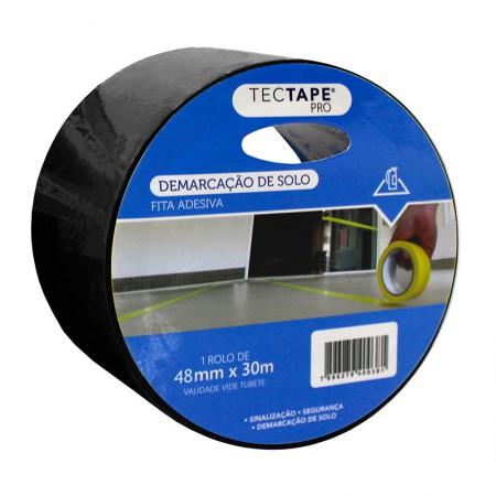 Fita para demarcação de solo 48x30 - preta - TecTape