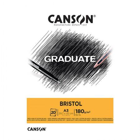 Bloco graduate bristol A3 180g - com 20 folhas - Canson