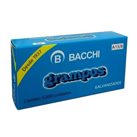 Grampo galvanizado 13/8 - com 5000 unidades - Bacchi