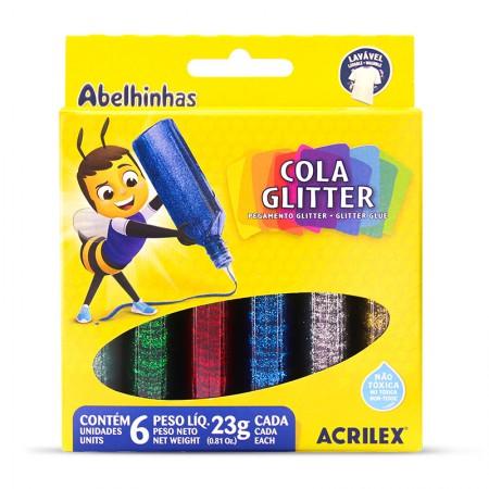 Cola glitter 6 cores 23g - Acrilex