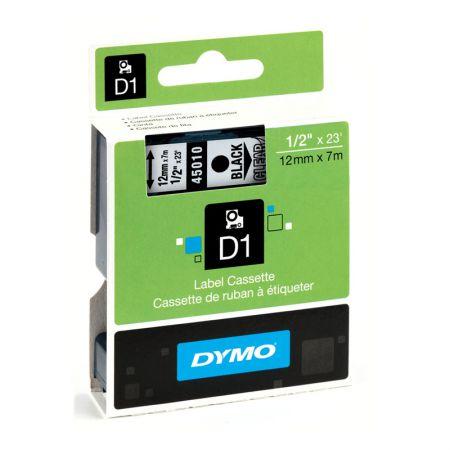 Fita para rotulador 12mm - 45010 - transparente escrita em preto - Dymo