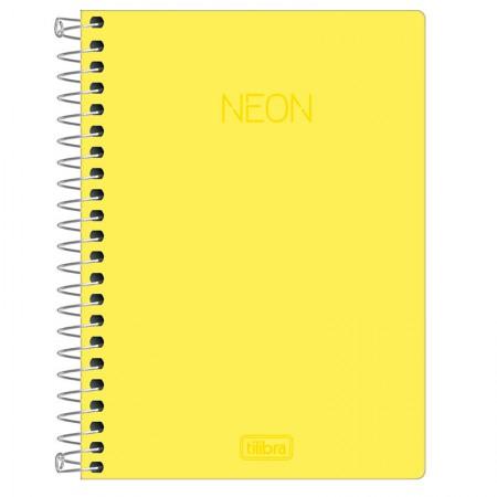 Caderneta capa dura espiral 1/8 - Neon Amarelo - 80 folhas - Tilibra