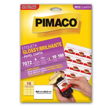 Etiqueta papel glossy 7072 - com 10 folhas - Pimaco