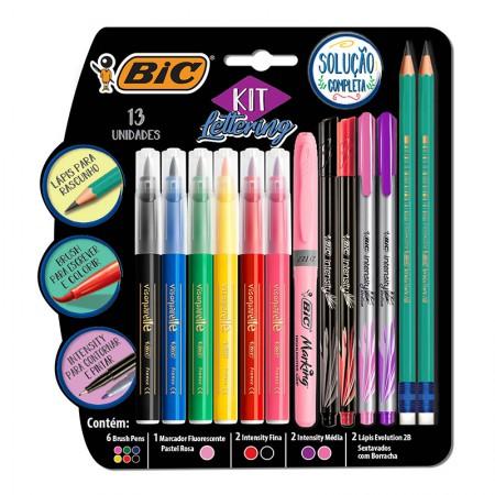 Kit Lettering solução completa - com 13 itens - 971080 - Bic