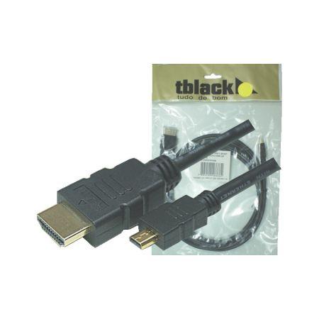 Cabo micro HDMI 1.4 áudio e vídeo 2 metros 90320/70321 - TBlack