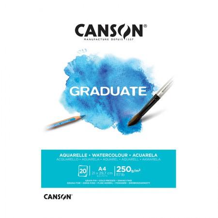 Bloco graduate aquarela A4 250g- com 20 folhas - Canson