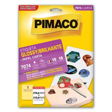 Etiqueta papel glossy 7074 - com 10 folhas - Pimaco