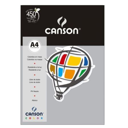 Papel Color Vivaldi A4 120g cinza escuro - com 15 folhas - Canson