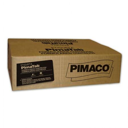 Etiqueta formulário contínuo 2 carreiras - 89X36 - caixa com 8000 - Pimaco