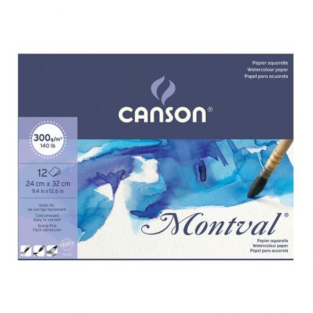 Bloco montval aquarela fina A4 300g - com 12 folhas - Canson