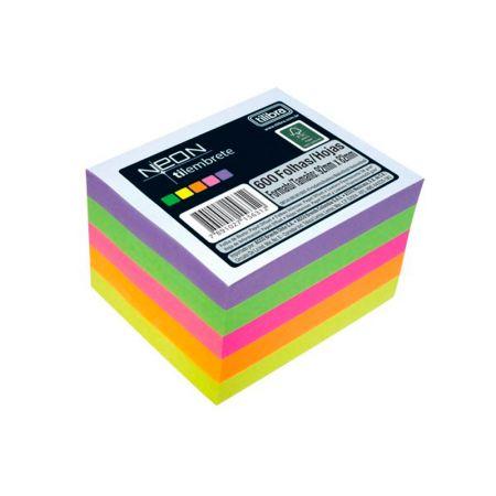 Papel lembrete Neon Tilembrete - com 600 folhas - Tilibra