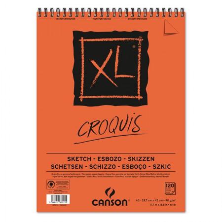 Bloco Croquis XL espiral creme A3 90gr - com 120 folhas - Canson