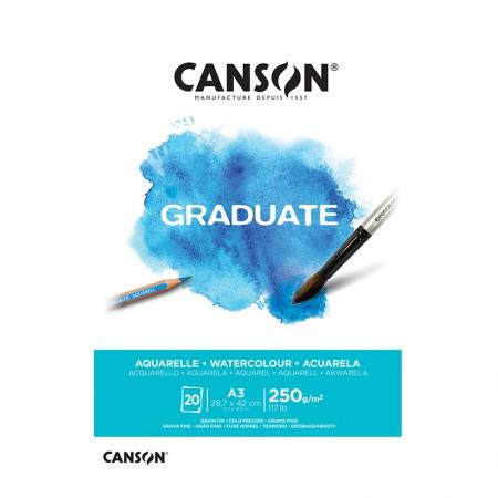 Bloco graduate aquarela A3 250g- com 20 folhas - Canson