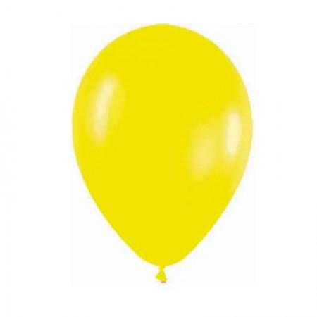 Bexiga amarelo número 7 - Art Festa - com 50 unidades - Balloontech