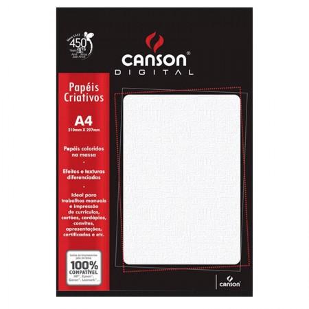 Papel opalina telado branco A4 180gr - 15 folhas - Canson