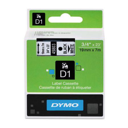Fita para rotulador branca com escrita preta 19mm - 45803 - Dymo