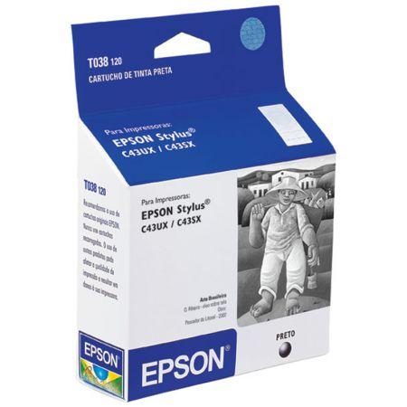 Cartucho Epson T038120 - preto 10ml - serie C43/C45