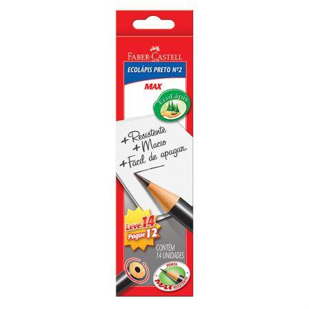 Lápis preto nr 2 - 1205M/14 - caixa com 14 unidades - Faber-Castell