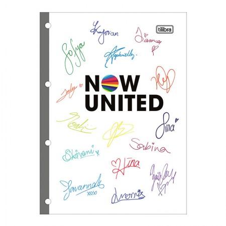 Bloco para fichário universitário Now United 4 furos - 80 folhas - Tilibra