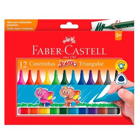 Caneta hidrográfica jumbo - 150212J - com 12 cores - Faber-Castell