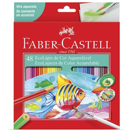 Lápis de cor 48 cores - aquarelável - 12.0248G - Faber-Castell
