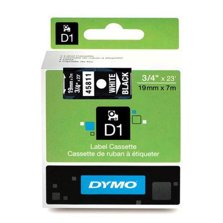 Fita para rotulador preta com escrita branca 19mm - 45811 - Dymo