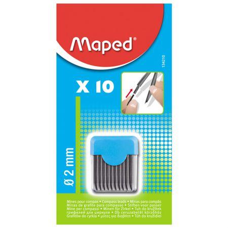 Grafite para compasso - 134210 - com 10 unidades - Maped