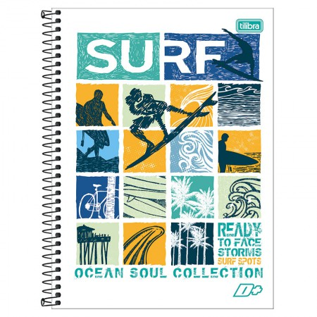 Caderno espiral capa dura universitário 1x1 - 96 folhas - D Mais - Life is a Journey - Tilibra