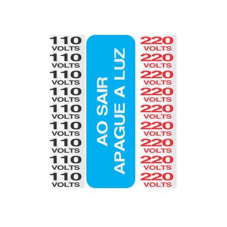 Placa de alumínio 110/220v 120AH - Sinalize
