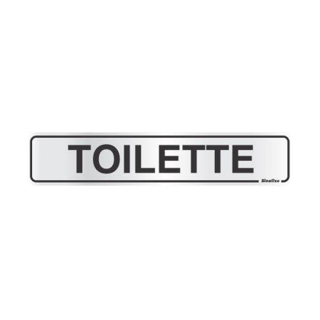 Placa de alumínio toilette 100AP - Sinalize