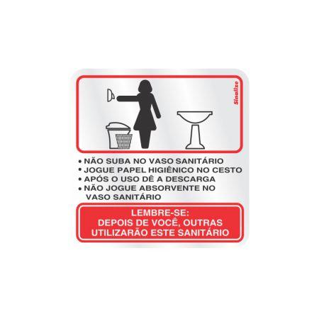 Placa de alumínio educativa Feminino 120AI - Sinalize