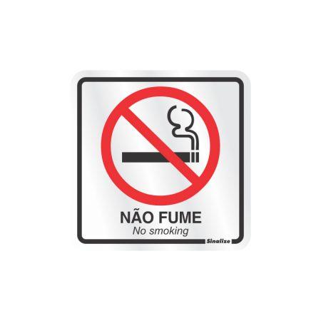 Placa de alumínio proibido fumar 120AB-SP - Sinalize
