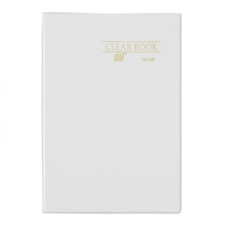 Pasta catálogo transparente - cristal -  BD40S - com 40 plásticos - Yes