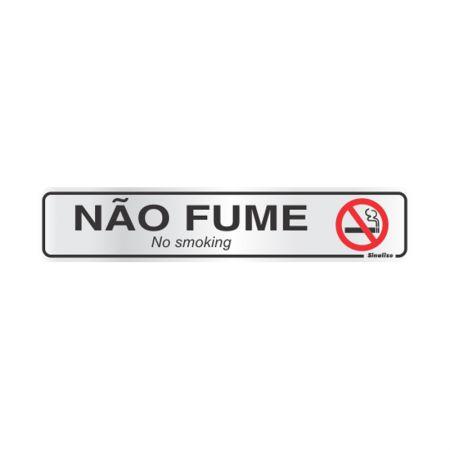 Placa de alumínio não fume 100AR - Sinalize
