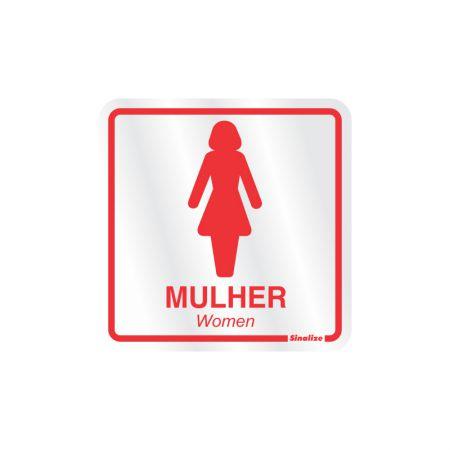 Placa de alumínio sanitário feminino 120AD - Sinalize