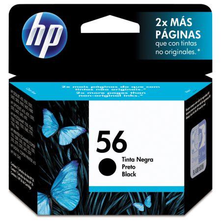 Cartucho HP Original (56) C6656AB - preto rendimento 450 páginas
