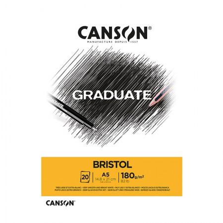 Bloco graduate bristol A5 180g - com 20 folhas - Canson