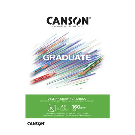 Bloco graduate desenho A3 160g - com 30 folhas - Canson