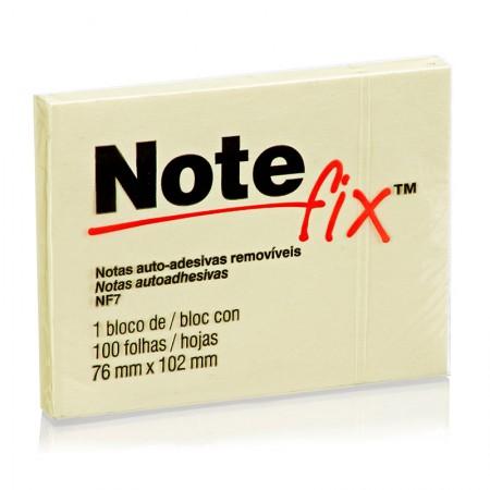 Bloco recado adesivo 76x102mm - amarelo - com 100 folhas - Notefix