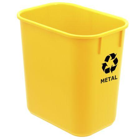 Cesto para metal polipropileno - amarelo - 572.1 - Acrimet