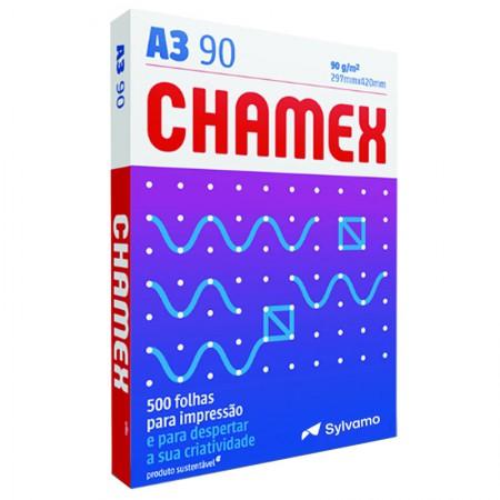 Papel sulfite A3 90g - 297x420 - com 500 folhas - Super A3 - Chamex