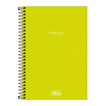 Caderno capa plástica 1/4 Neon Verde Limão S/P 80 Fls - Tilibra