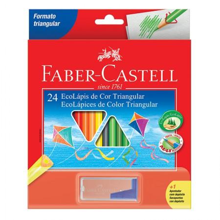 Lápis de cor 24 cores - triangular - 120524 - Faber-Castell