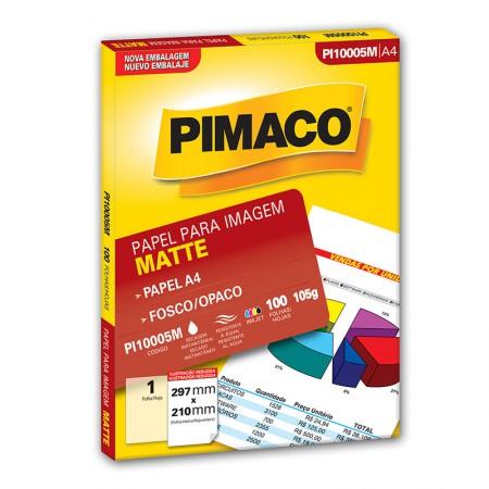 Papel fosco matte A4 - PI10005M - com 100 folhas - Pimaco